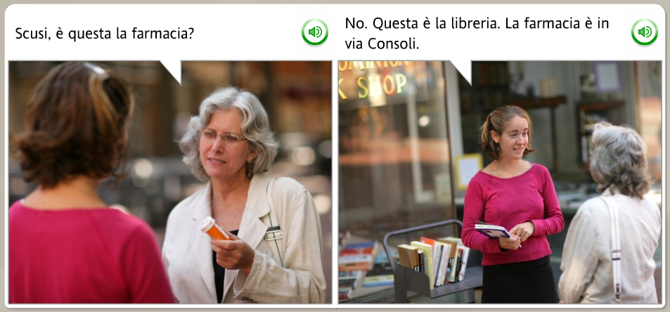 The funniest Rosetta Stone stock images: Italian, is this the pharmacy
