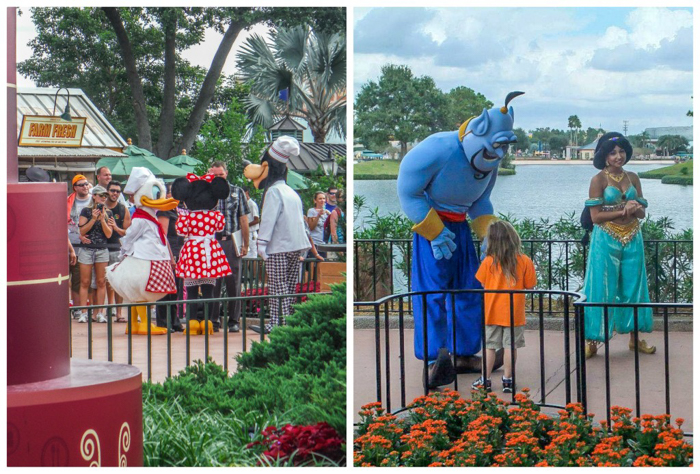 Foodie and the Feast // 20 Countries in 1 Day at the Epcot Food & Wine Festival | Disney characters at the EPCOT Food & Wine Festival