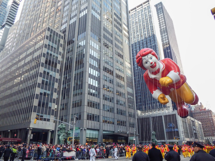 Do This, Not That // Macy's Thanksgiving Day Parade | Ronald McDonald balloon at the Macy's Thanksgiving Day Parade in New York City