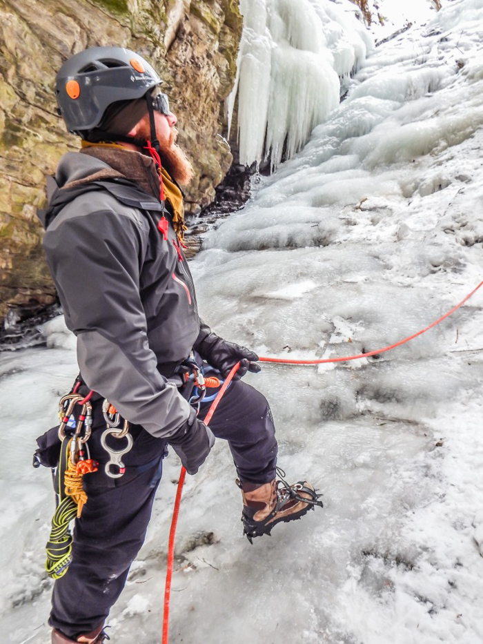 Ice Canyoning in Québec // Why You Should Be All up in This | Jeff, our guide ice canyoning in Québec
