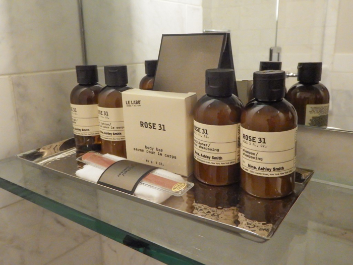 Château Frontenac & the Weekend of Spoils | Personalized toiletries at Château Frontenac in Québec City