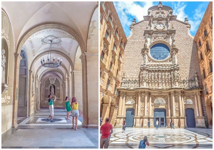 Day trip to Montserrat | 4 days in Barcelona, Spain, Catalonia | Things to do in Barcelona | What to do in Barcelona | Catholic monastery | Catalunya | 1 day in Montserrat | Serrated Mountains | church portico