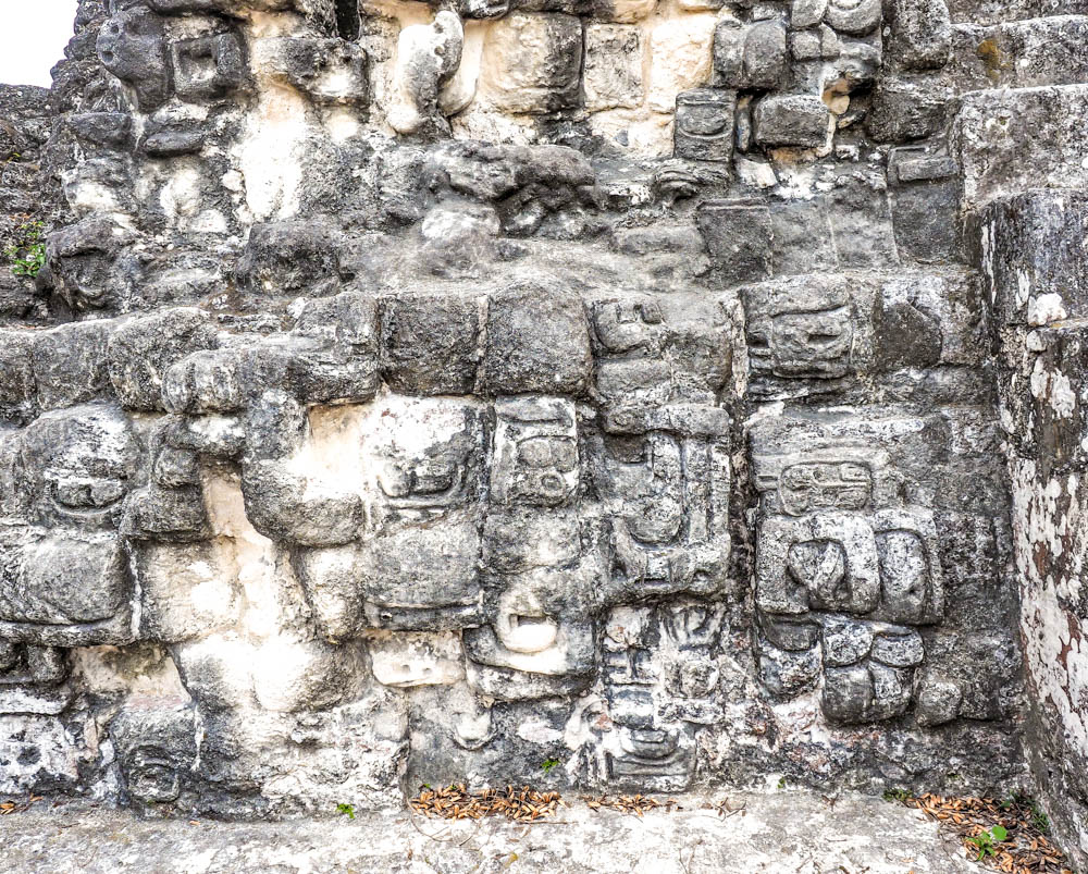 ancient carvings on stones on belize to tikal day trip