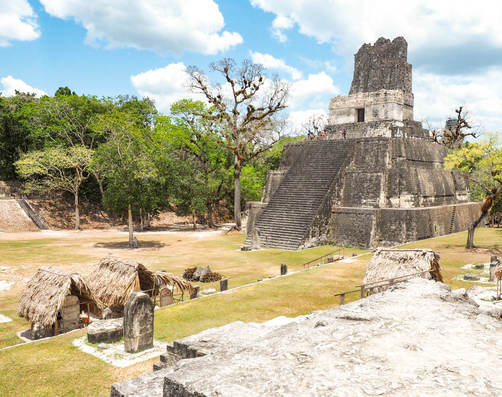 central plaza of mayan complex on belize to tikal day trip