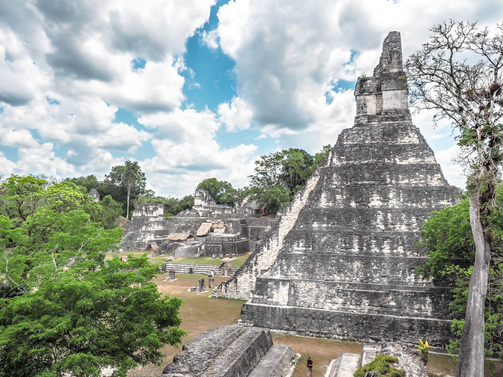 tall ancient temples on belize to tikal day trip