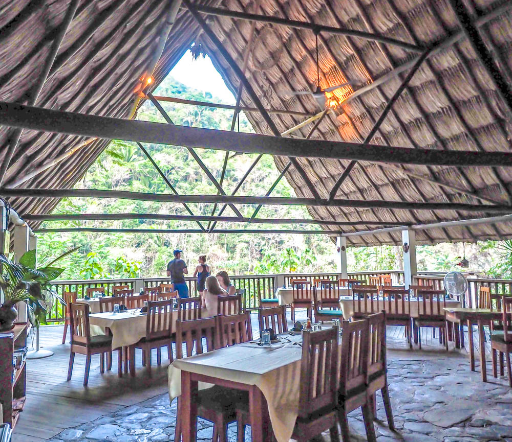 open-air restaurant in the jungle in belize