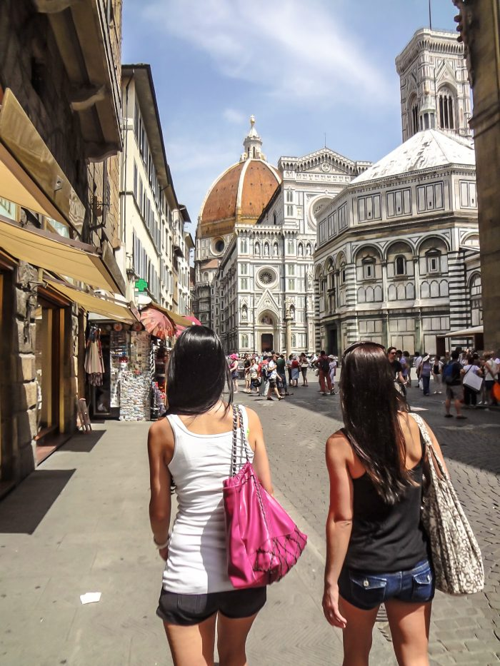 Visiting the Duomo and Baptistery in Piazza del Duomo during 2 days in Florence, Italy