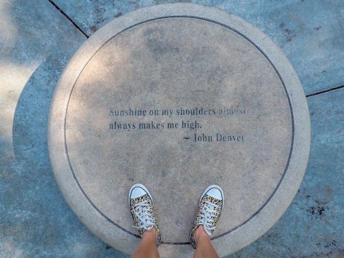 John Denver quote at the Dallas Arboretum and Botanical Garden // Dallas CityPASS