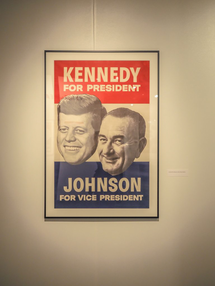 Kennedy Johnson campaign poster at the Sixth Floor Museum iKennedy Johnson campaign poster at the Sixth Floor Museum in Dallas, Texasn Dallas, Texas
