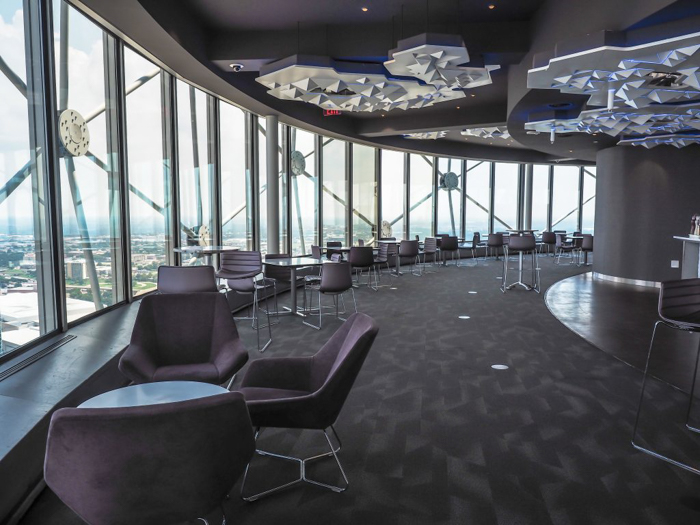Revolving café inside Reunion Tower in Dallas, Texas // Dallas CityPASS