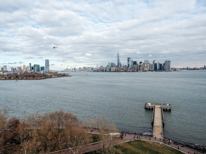 Visiting the Statue of Liberty, New York City // looking out from the crown