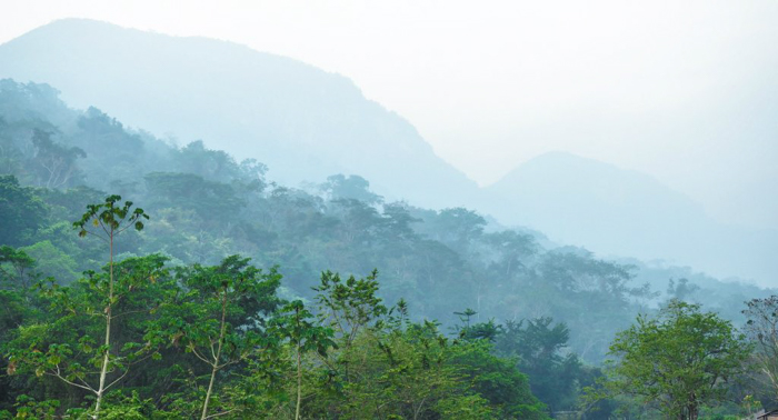 Mountains near the ATM Cave in Belize | Map | San Ignacio, Belize | Cayo District | Tapir Mountain Nature Reserve | Actun Tunichil Muknal | Maya | Mayan archaeological site | skeletal remains | Cave of the Sone Sepulcher | Pacz Tours