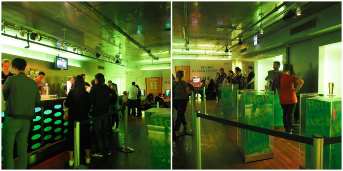 Bar with friends | Personalized Heineken bottle | The Heineken Experience in Amsterdam | the Netherlands | Heineken Brewery | brewery tour | VIP tasting | beer | Amstel | Brand | Affligem | Heineken 41 | beer tasting