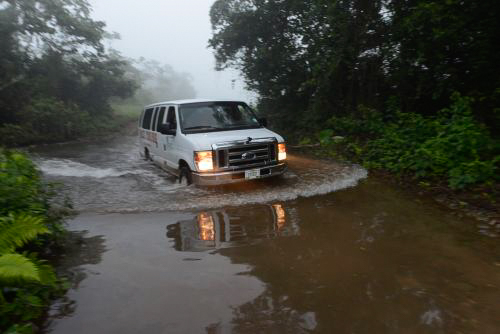 Van arriving at the site / Touring the ATM Cave in Belize: Tips, Advice, Expectations, and more