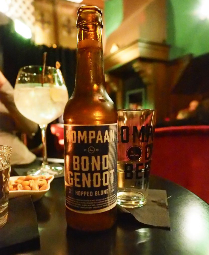 Bond Genoot beer at Bar Oldenhof in Amsterdam | 3 days in Amsterdam, Netherlands | Speakeasy in the Jordaan neighborhood