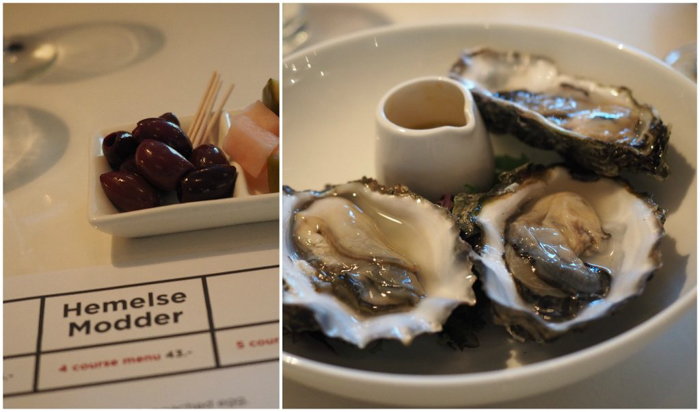 Dinner at Hemelse Modder | Dutch oysters | 3 days in Amsterdam, Netherlands