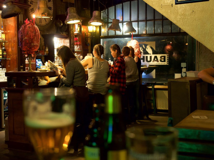 Bar at St. Christopher's Inn Bruges, Belgium | Hostel at the Bauhaus | Brugge