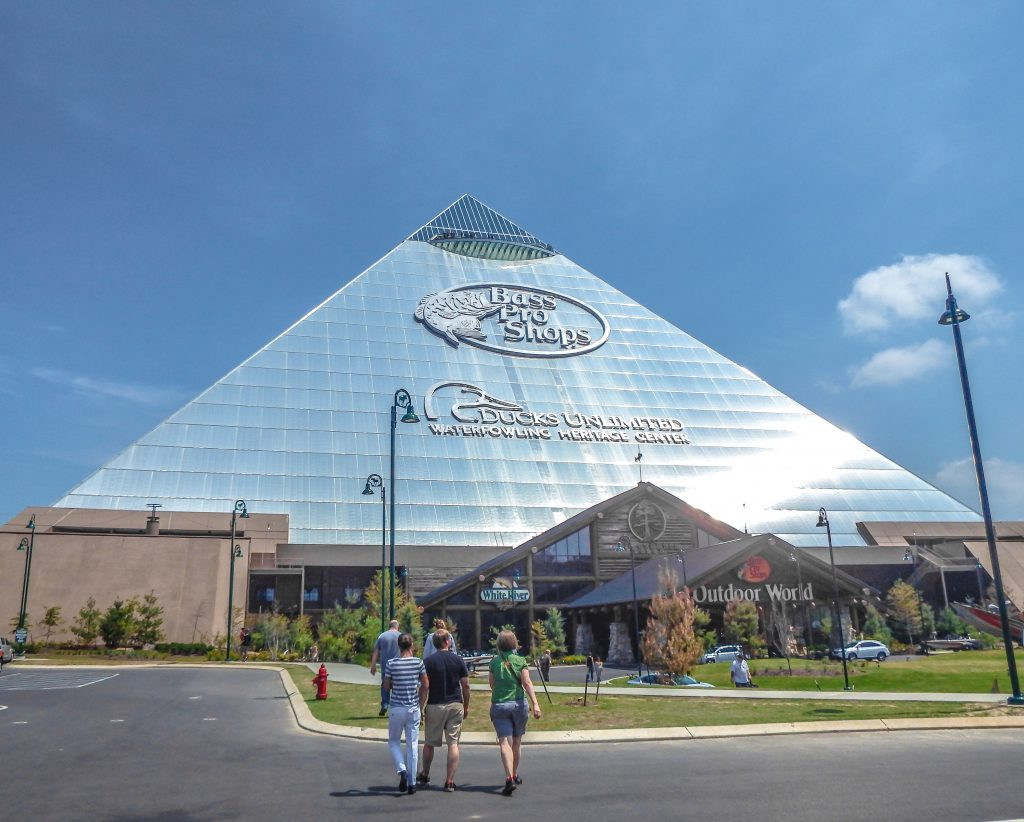Memphis, Tennessee is weird. Bass Pro Shop at the Pyramid