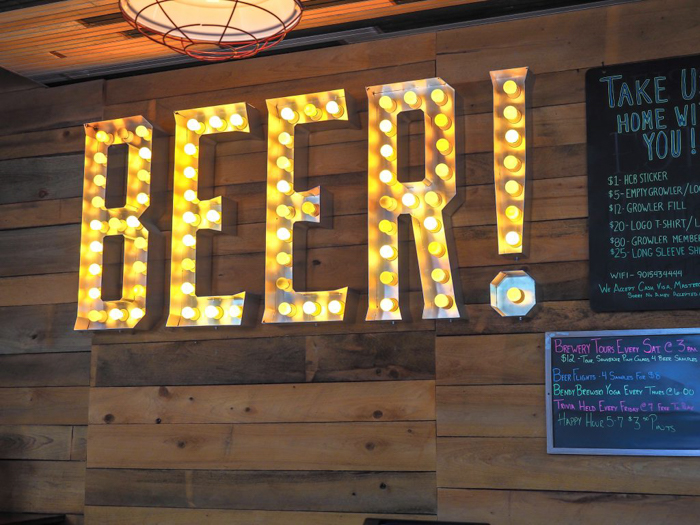 Memphis craft breweries | High Cotton Brewing Co. | Craft beer in Downtown / Midtown Memphis, Tennessee | High Cotton taproom | beer sign