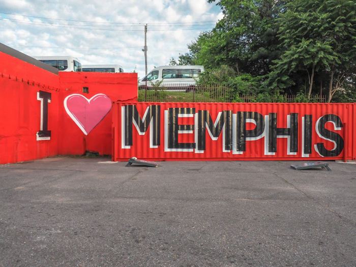 Memphis, Tennessee is weird. I love Memphis mural
