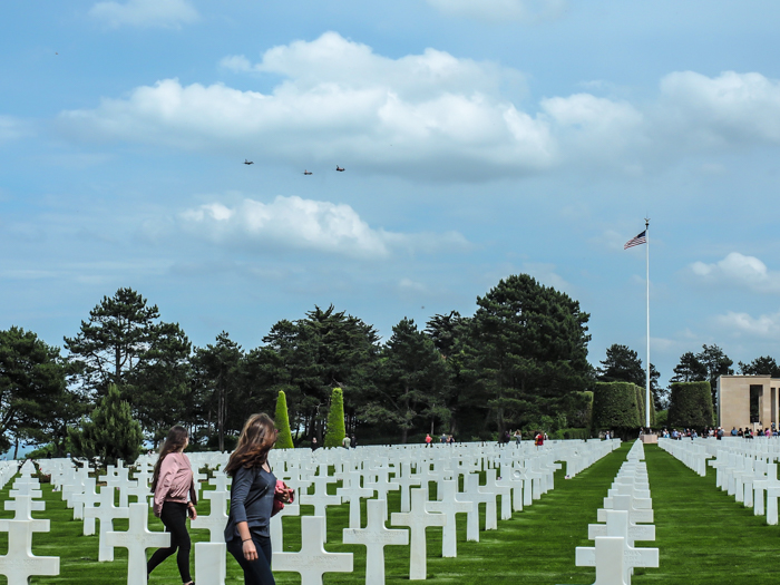 The best D-Day sites to visit in Normandy, France | WWII | WW2 | Normandy American Cemetery | Jet flyover