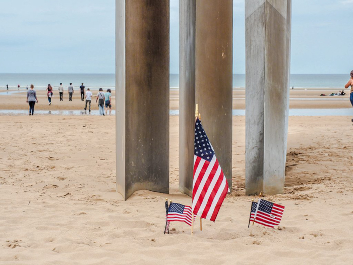 The best D-Day sites to visit in Normandy, France | WWII | WW2 | Omaha Beach | American flags