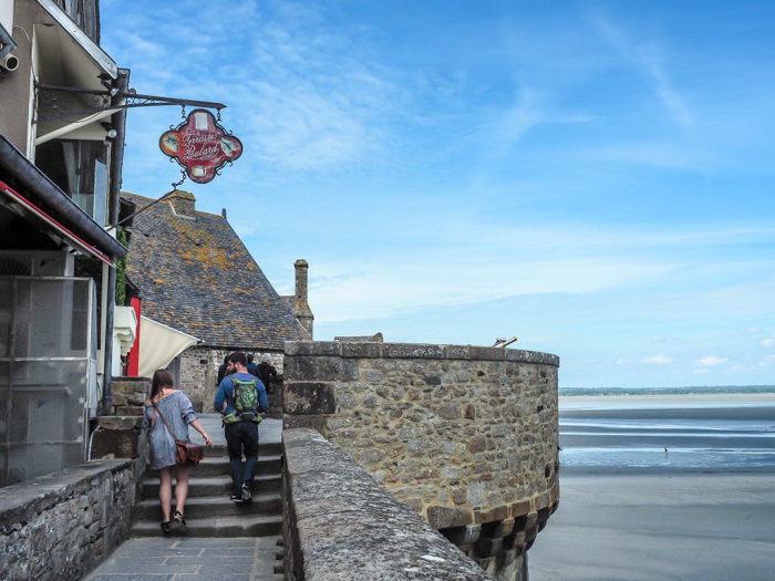 It's actually worth visiting Mont Saint Michel | Normandy, France | Medieval abbey on an island | Bucket list | Disney fairy tale castle inspiration | Mont-St-Michel | balcony