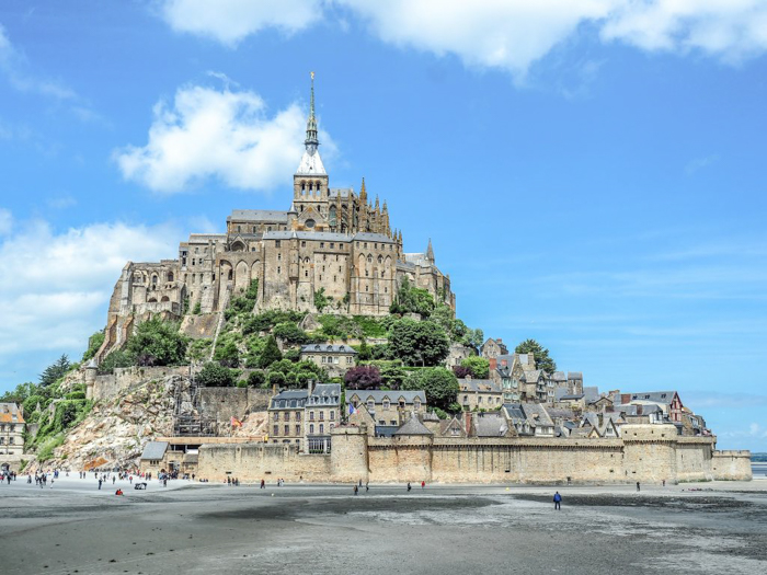 It's actually worth visiting Mont Saint Michel | Normandy, France | Medieval abbey on an island | Bucket list | Disney fairy tale castle inspiration | Mont-St-Michel | close-up