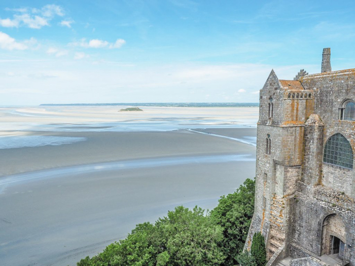 It's actually worth visiting Mont Saint Michel | Normandy, France | Medieval abbey on an island | Bucket list | Disney fairy tale castle inspiration | Mont-St-Michel | view looking out