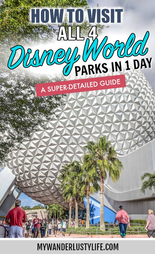 How to Do All 4 Disney Parks in 1 Day: A Super Detailed Guide   Disney World 4-park challenge: Magic Kingdom, Epcot Center, Animal Kingdom, Hollywood Studios #disney #disneyworld #traveltips #magickingdom #disneyhacks #epcot #animalkingdom #hollywoodstudios