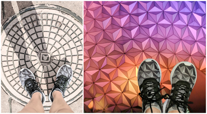 Epcot Center, Spaceship Earth Adidas shoes | Disney World sneakers