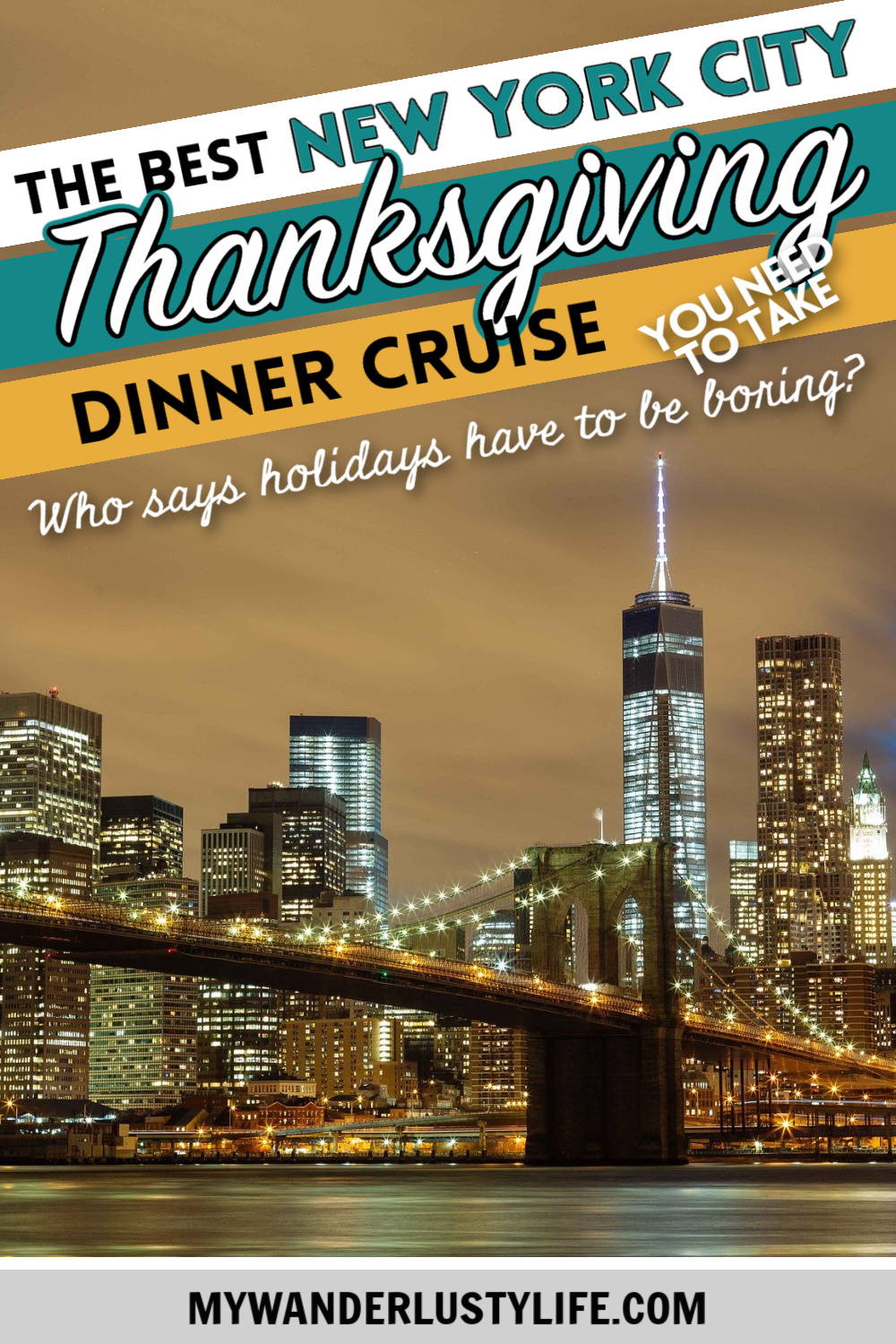The Best Thanksgiving Dinner Cruise NYC Offers: What You're Missing | Hornblower Thanksgiving Cruises, New York City #manhattan #newyorkcity #thanksgiving #dinnercruise