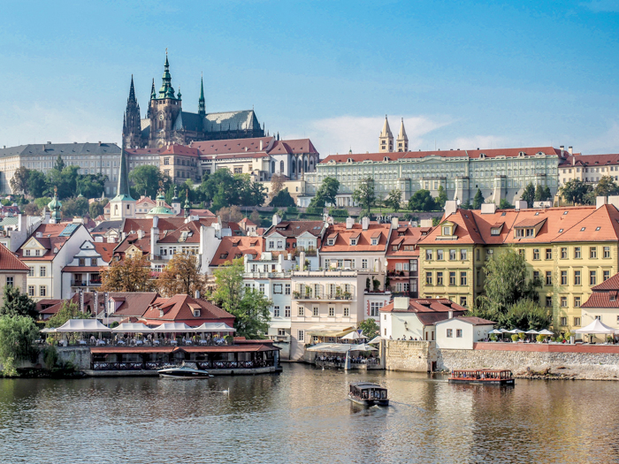 Czeching Out the Best of Prague in 3 Days | Prague Castle from across the Charles Bridge and the Vltava River