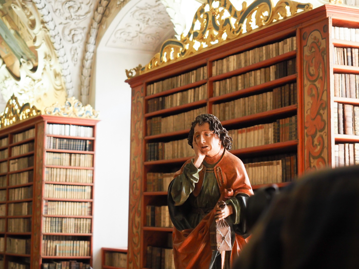 Czeching Out the Best of Prague in 3 Days | Czech Republic | Strahov Monastery Library, Statue