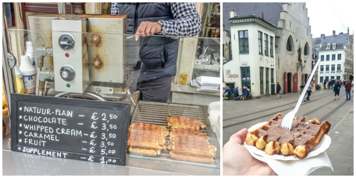 4 days in Belgium | Where to drink in Ghent | Gent | waffle stand