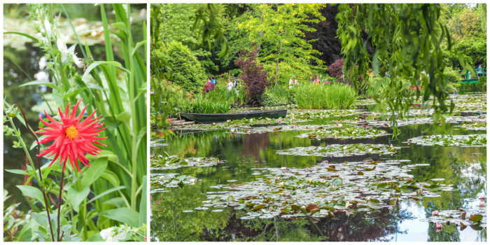 Day Trip to Givery from Paris, France | Show me the Monet! | Claude Monet, Waterlilies | Impressionist art | Day trips from Paris | What to do in Paris | Things to do in Paris | Where to go in France | Waterlily pond | Impressionism | water lily pond and red flowers