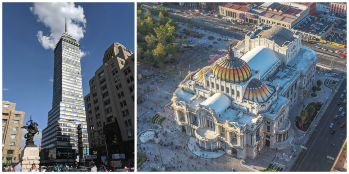 15 essential Mexico City experiences for the best trip ever | Mexico City must-do | Things to do in Mexico City | What to do in Mexico City | CDMX | Mexico DF | Can't-miss Mexico City activities and sights | Mexico City sightseeing | Palacio de Bellas Artes from the Torre Latinoamericana
