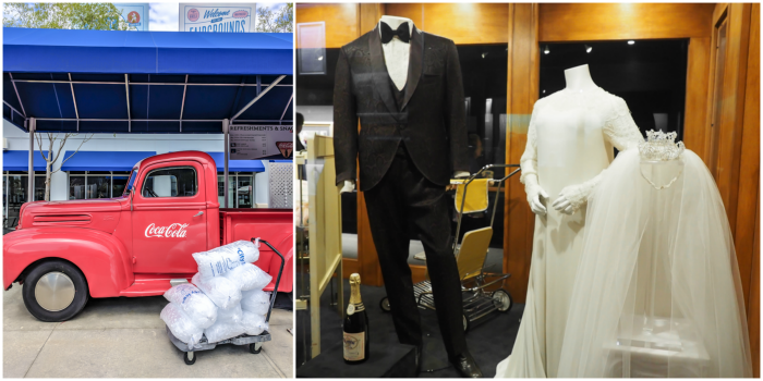 Elvis and Priscilla wedding clothes | 13 Reasons to Visit Graceland in Memphis, Tennessee even if you're not an Elvis Presley fan #Elvis #Graceland #Memphis #traveltips #wedding