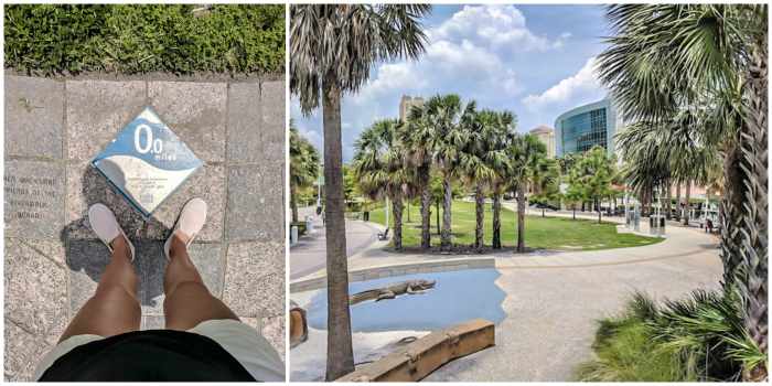 Start of the Tampa Riverwalk // How to use the Tampa Bay CityPASS as a childless adult. #tampabay #florida #citypass #traveltips #vacation #tampa #timebudgettravel