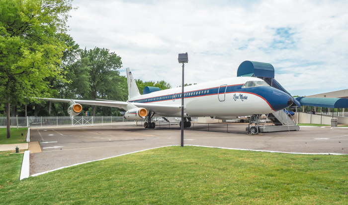 Airplane, the Lisa Marie | 13 Reasons to Visit Graceland in Memphis, Tennessee even if you're not an Elvis Presley fan #Elvis #Graceland #Memphis #traveltips #airplane