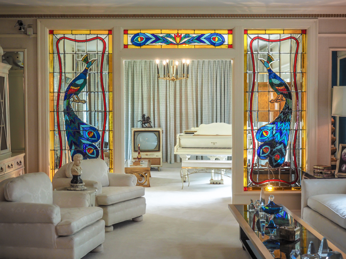 Music Room | 13 Reasons to Visit Graceland in Memphis, Tennessee even if you're not an Elvis Presley fan #Elvis #Graceland #Memphis #traveltips