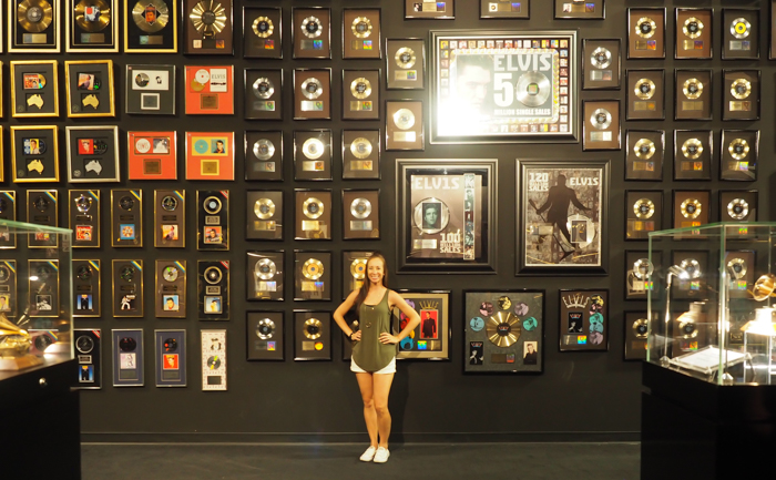 Wall of gold and platinum records | 13 Reasons to Visit Graceland in Memphis, Tennessee even if you're not an Elvis Presley fan #Elvis #Graceland #Memphis #traveltips
