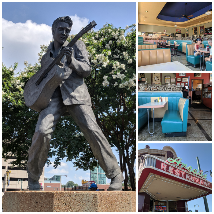 200 Things to do in Memphis, Tennessee for first-time visitors - a local's guide | Arcade Restaurant, statue of elvis