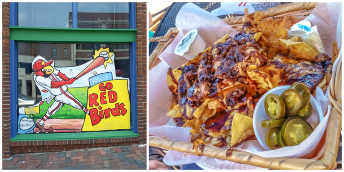 200 things to do in Memphis, Tennessee for first-time visitors - a local's guide | Memphis Redbirds and BBQ nachos #memphis #redbirds #traveltips #bbq