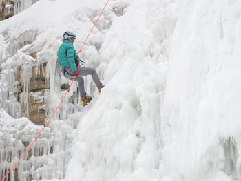 Ice Canyoning in quebec city, canada   rappelling down a frozen waterfall   What is ice canyoning, canada adventure activities, winter adventures