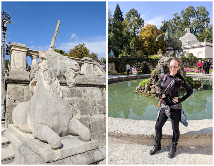 How to Squeeze in a Day Trip to Salzburg from Munich | Austria to Germany | Sound of music, mozart, castle, brewery, museums #salzburg #austria #thesoundofmusic #beer #mozart #daytrip #castle | Mirabell gardens and unicorn