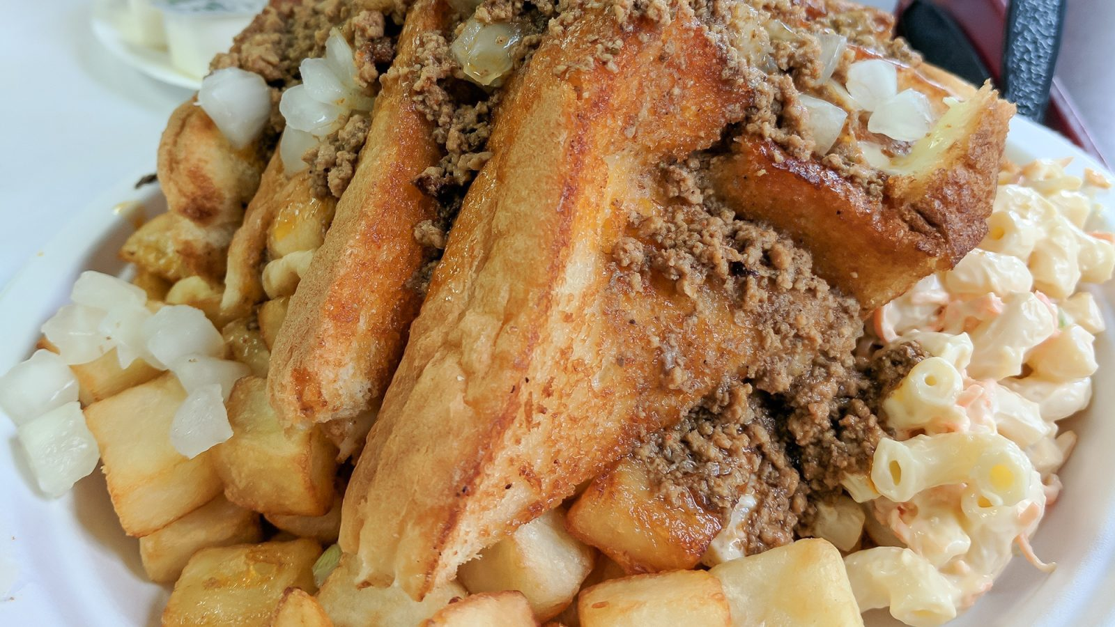 Nick Tahou Garbage Plate   Rochester, New York   Hamburger, Cheeseburger, Grilled Cheese, sausage   strange regional food obsessions