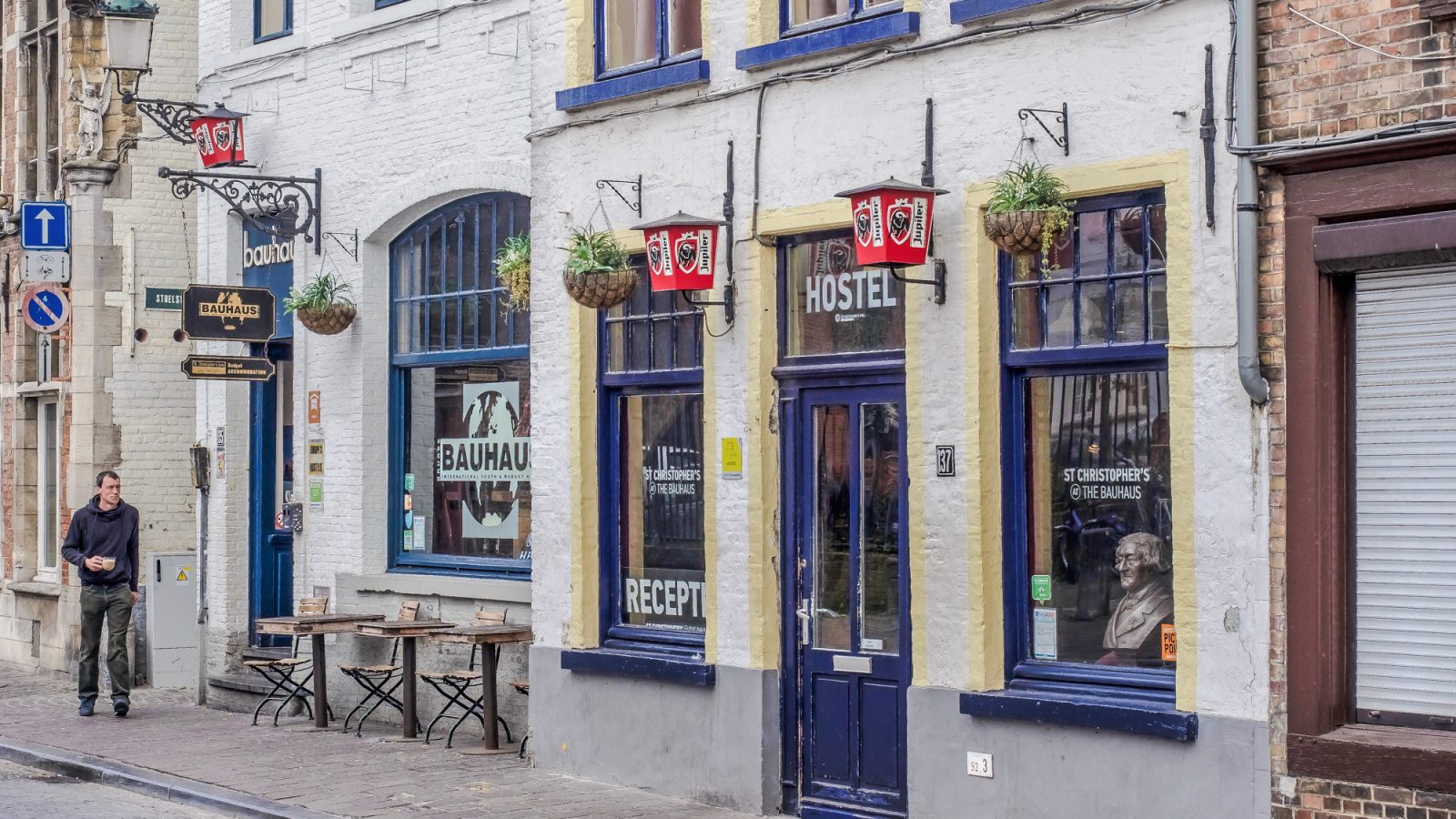 Review of St. Christopher's Inn hostel at the Bauhaus in Bruges, Belgium