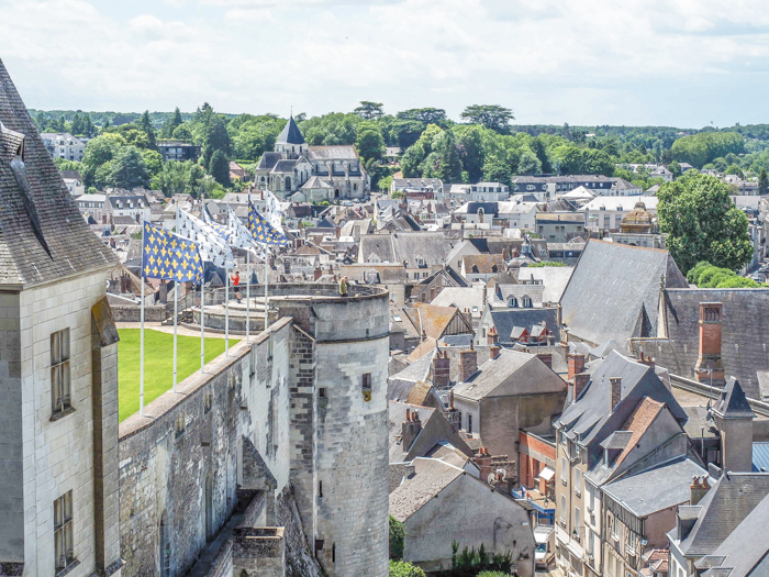 View from Chateau d'Amboise, Loire Valley, France