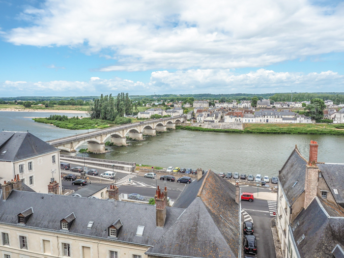 View of the Loire River from Chateau d'Amboise, Loire Valley, France
